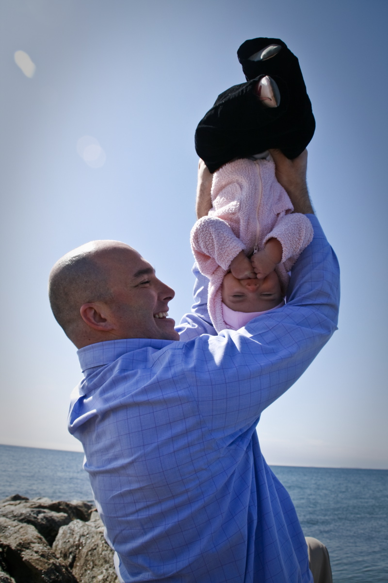 Dad and Kate...Upside Down!