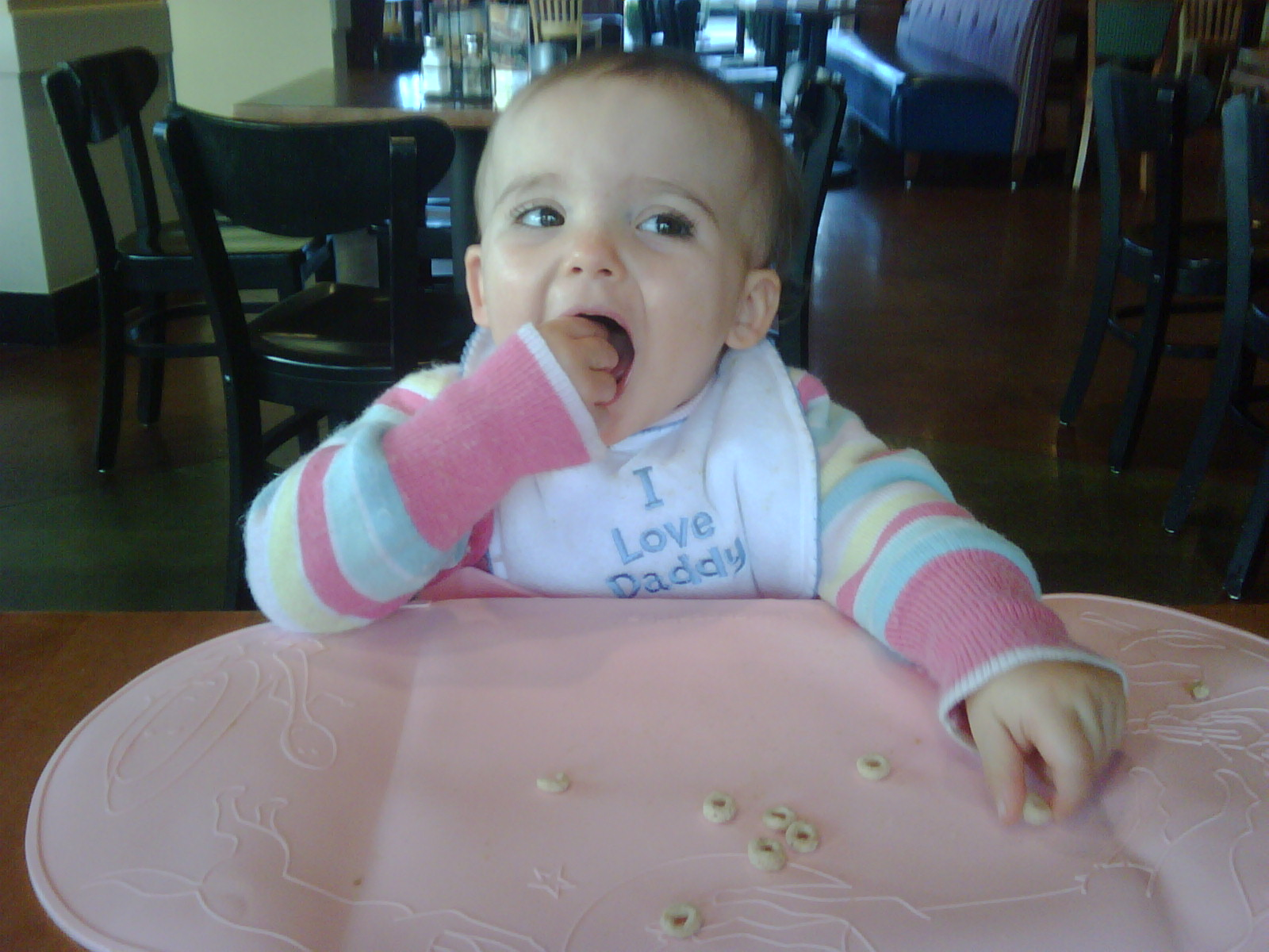 Kate LOVES her Cheerios!